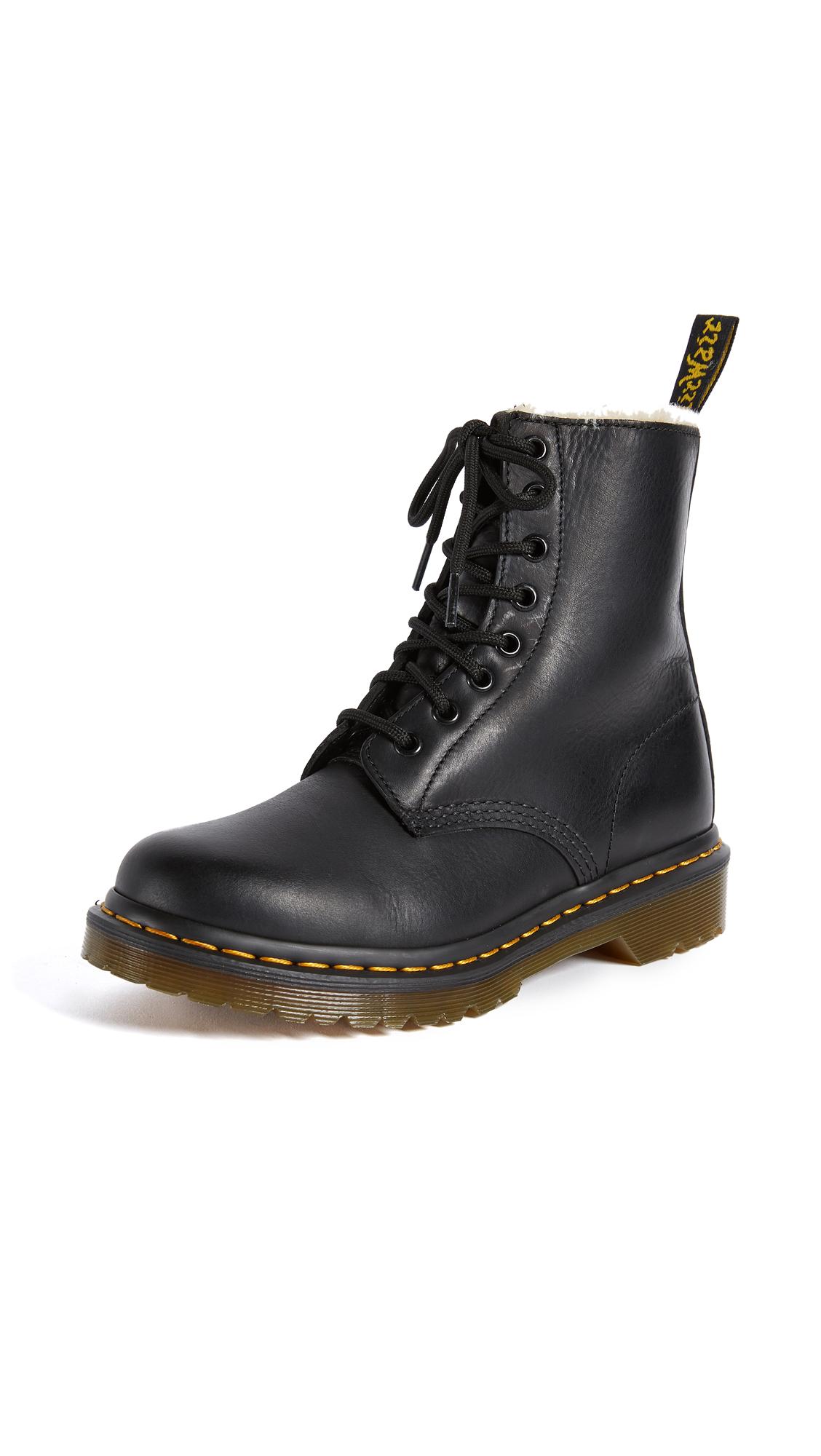 Buy Dr. Martens 1460 Serena 8 Eye Sherpa Boots online, shop Dr. Martens