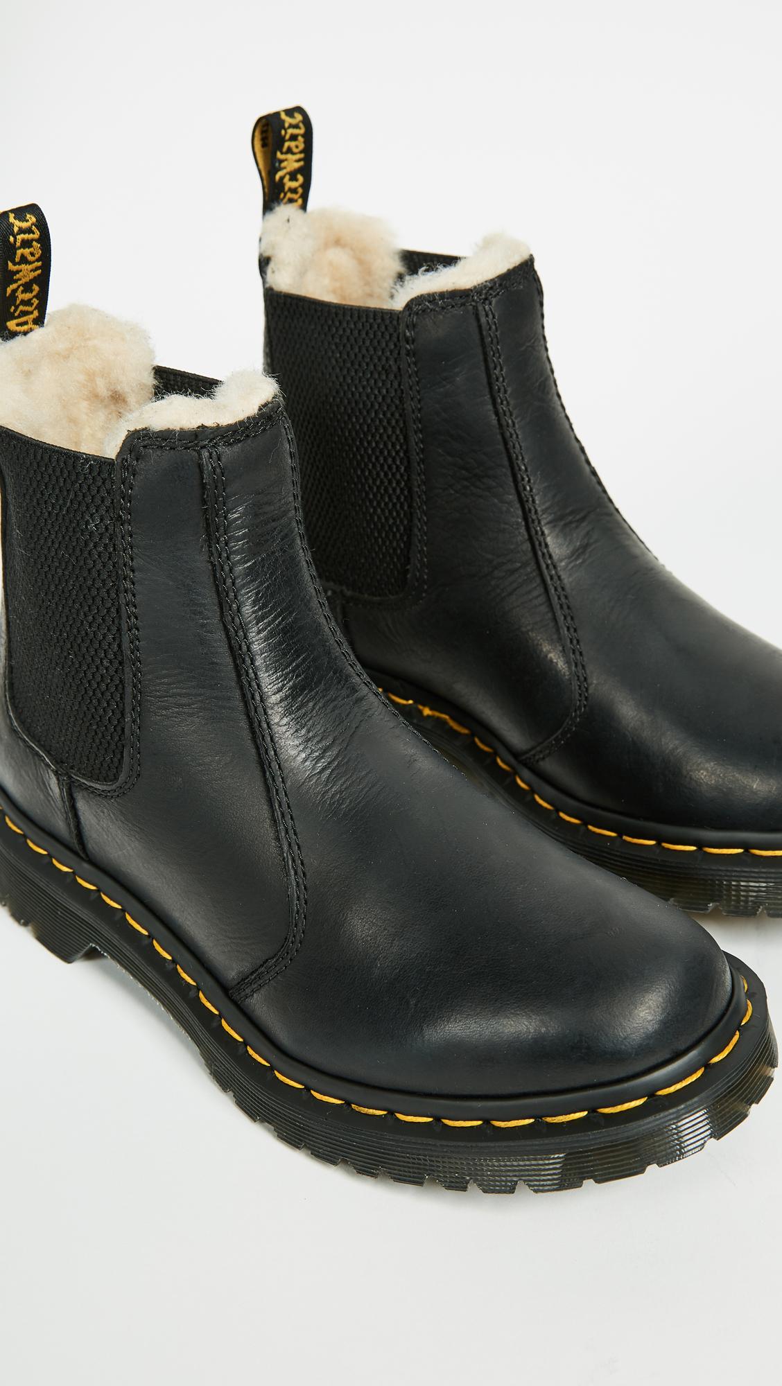 Dr martens new Chelsea fur lined boots Leonore Depop