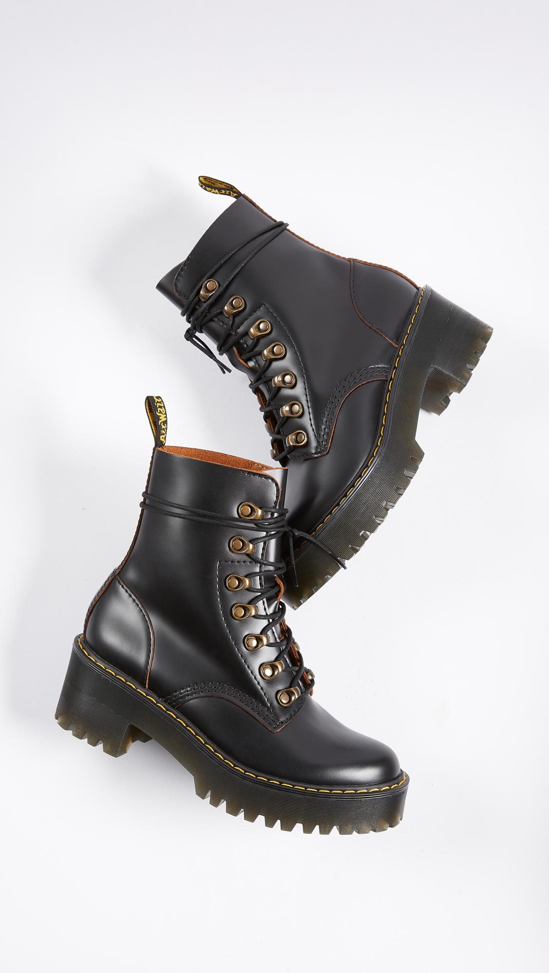 2f0e66ffcfd Dr. Martens Leona 7 Hook Boots