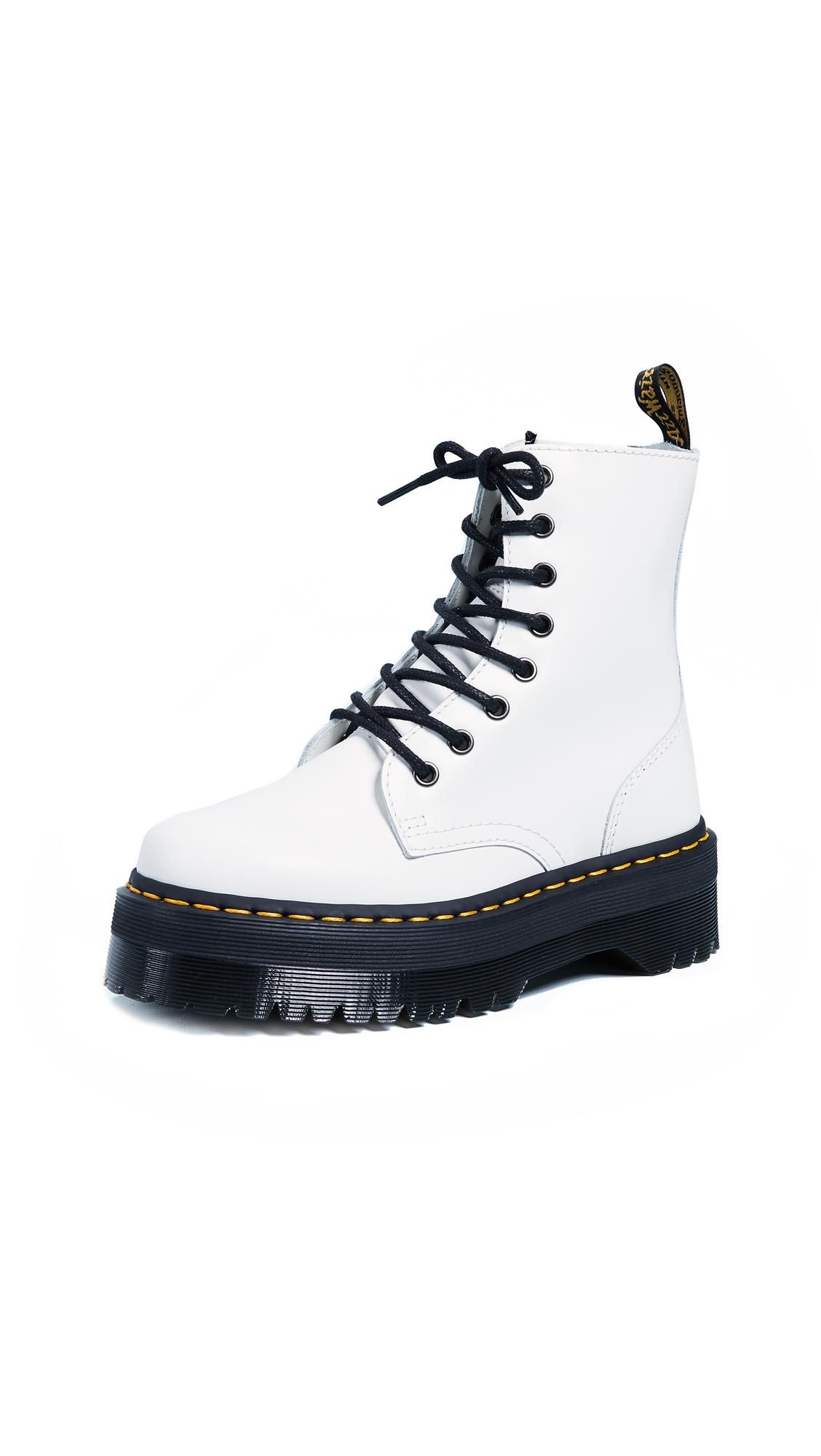Dr. Martens Jadon 8 Eye Boots - White