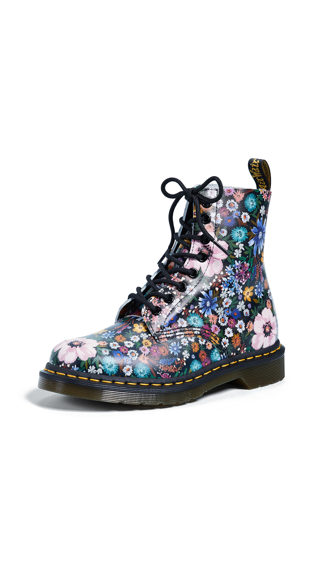 Dr. Martens Pascal WL 8 Eye Boots - Black/Mallow Pink