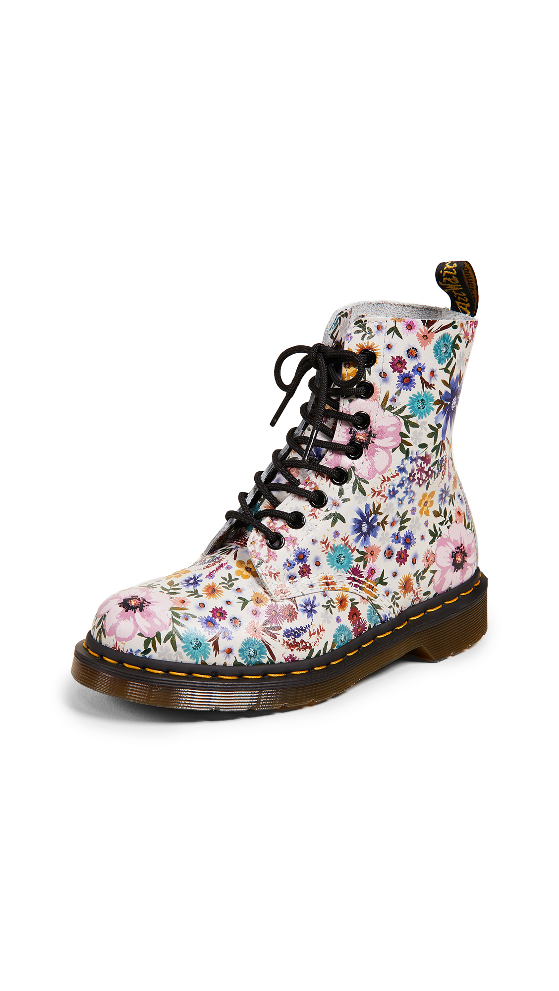 Dr. Martens Pascal WL 8 Eye Boots - Bone/Mallow Pink
