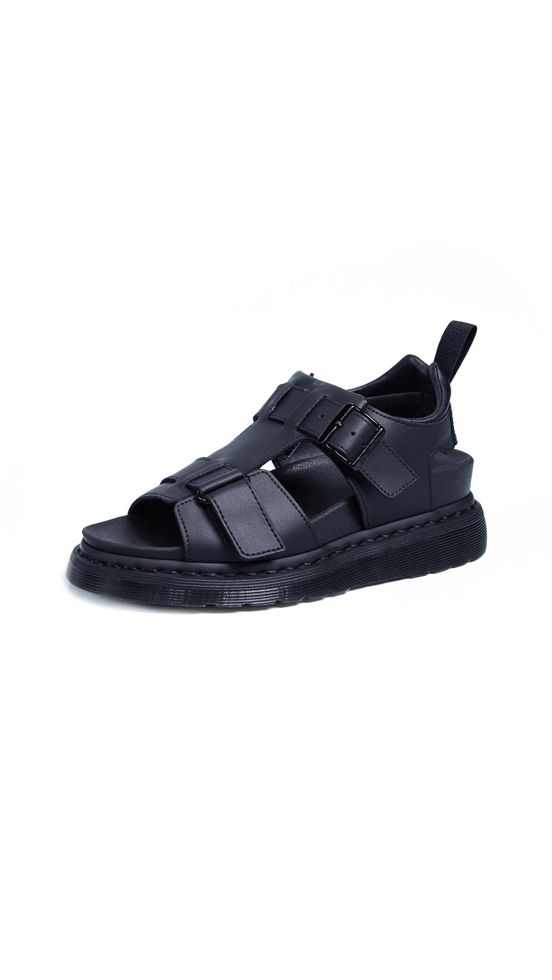Dr. Martens Kamilah Adjustable 2 Strap Sandals - Black