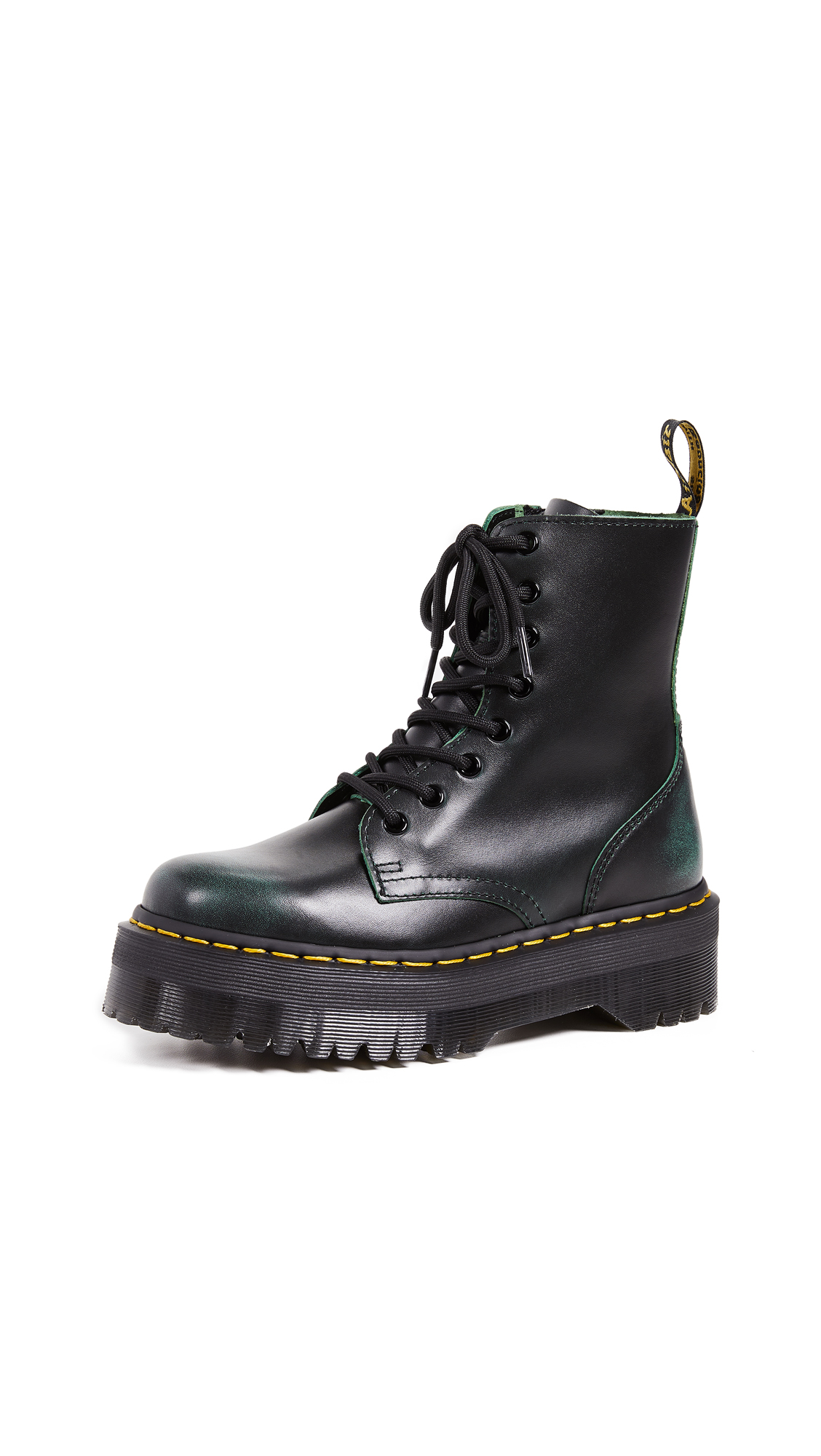 Dr. Martens Jadon 8 Eye Boots In Green