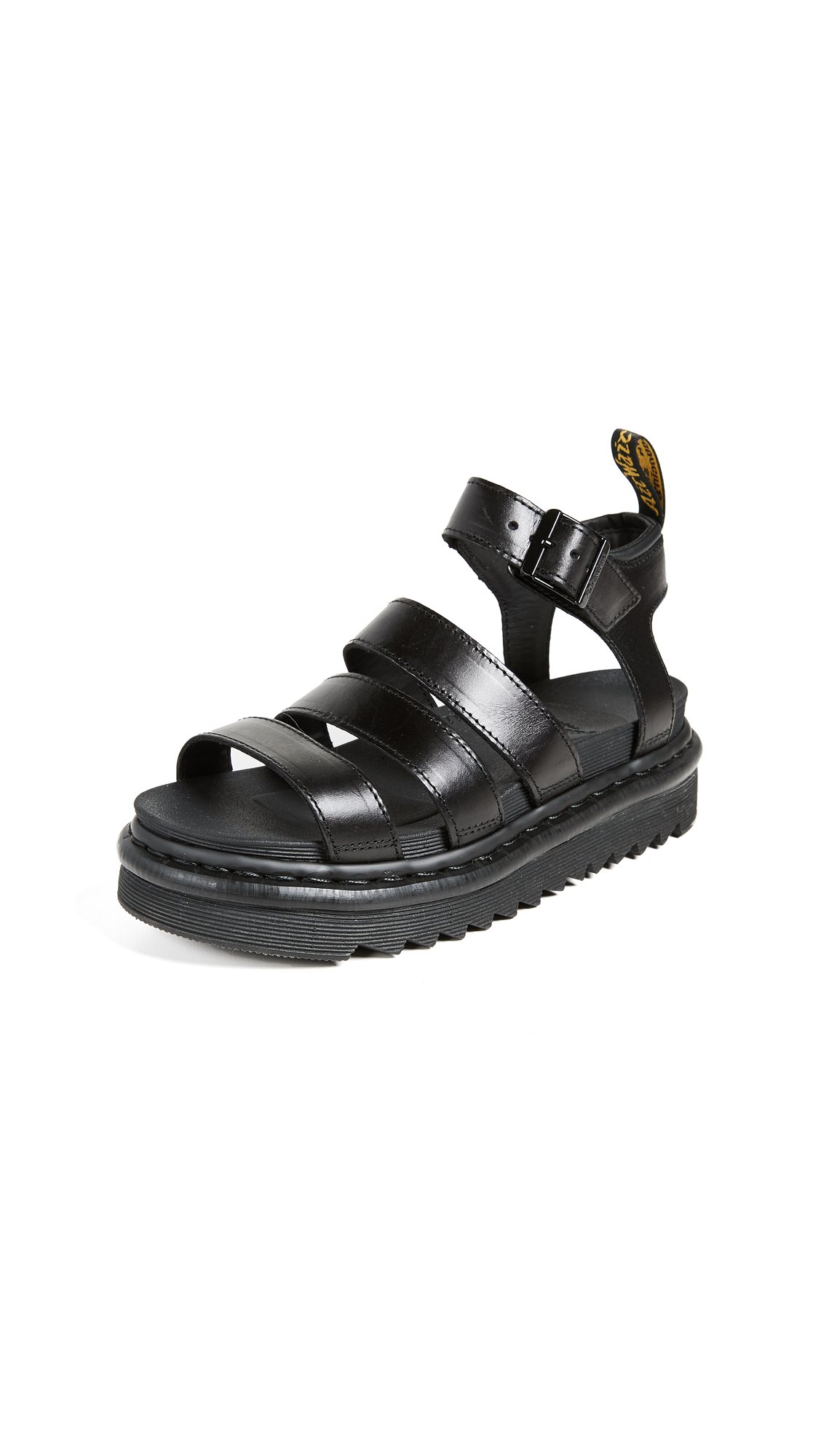 Dr. Martens Blaire Adjustable Strap Sandals - Black Brando