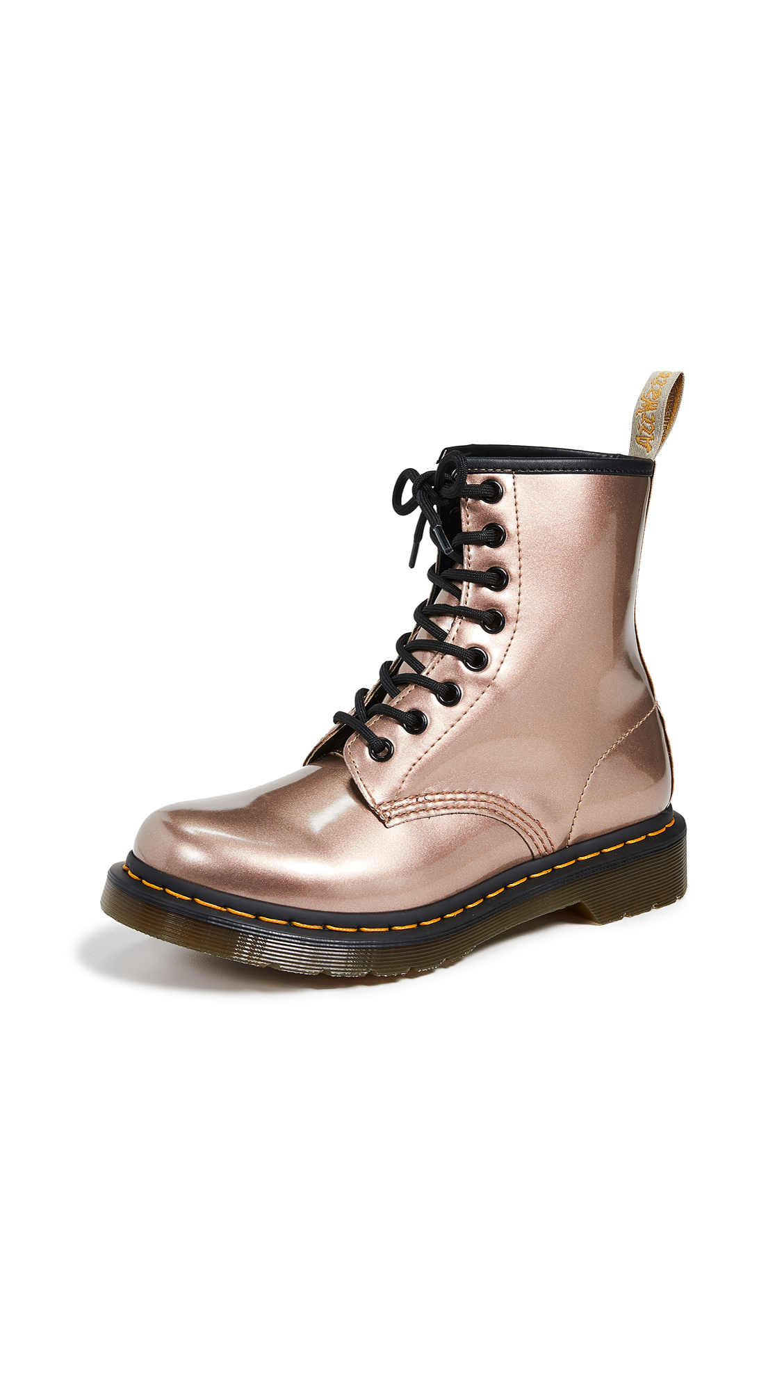 Dr. Martens 1460 Vegan 8 Eye Boots - Rose Gold