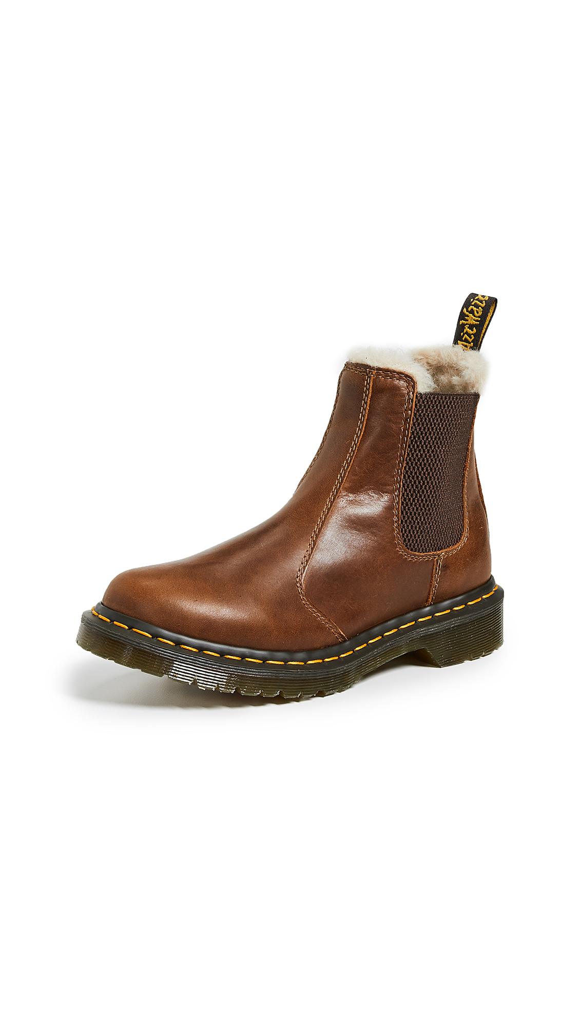 Dr. Martens Leonore Sherpa Chelsea Boots - Butterscotch