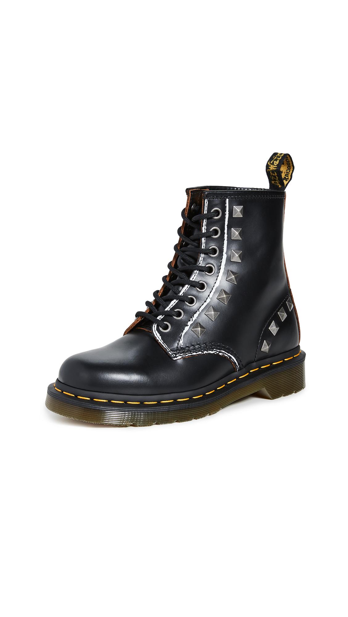 Buy Dr. Martens 1460 Stud 8 Eye Boots online, shop Dr. Martens