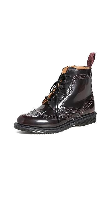 Dr. Martens Delphine 6 Eye Brogue Boots