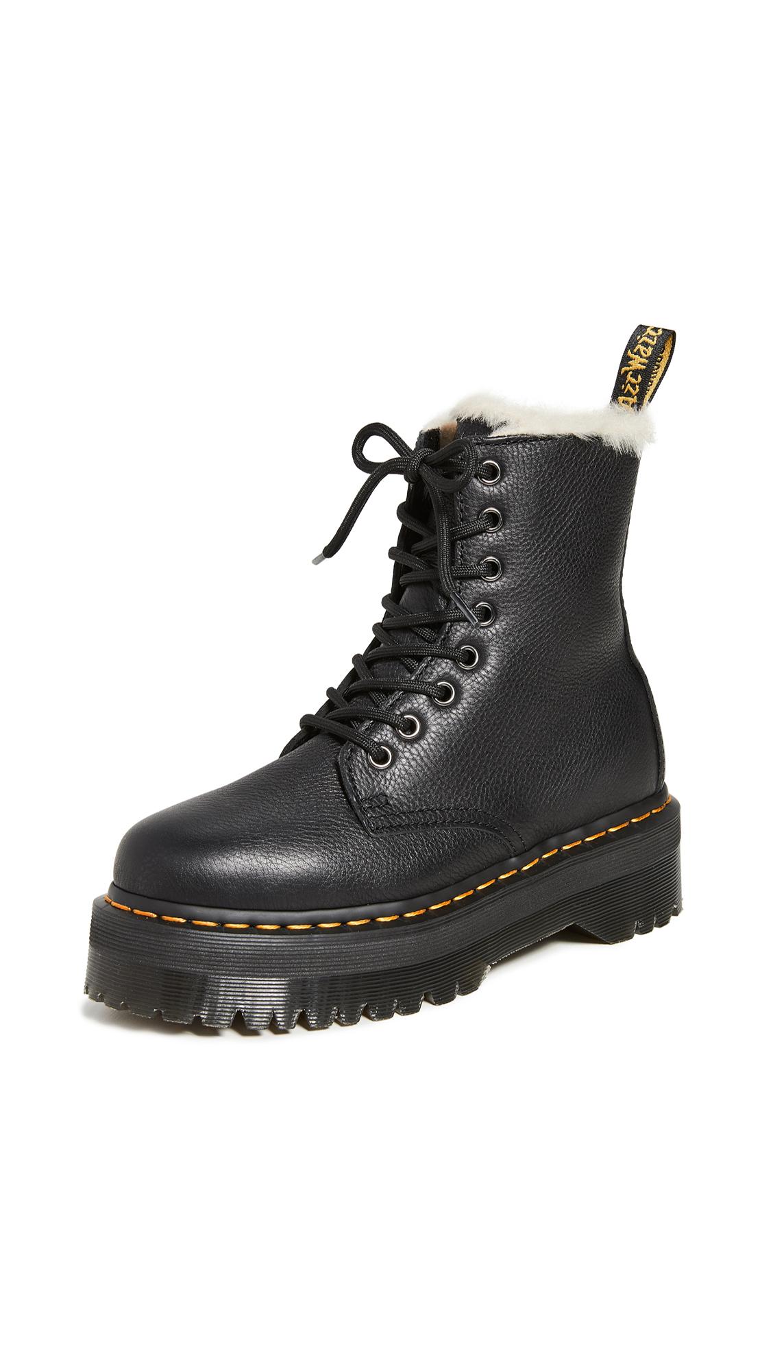 Buy Dr. Martens Jadon FL 8 Eye Boots online, shop Dr. Martens