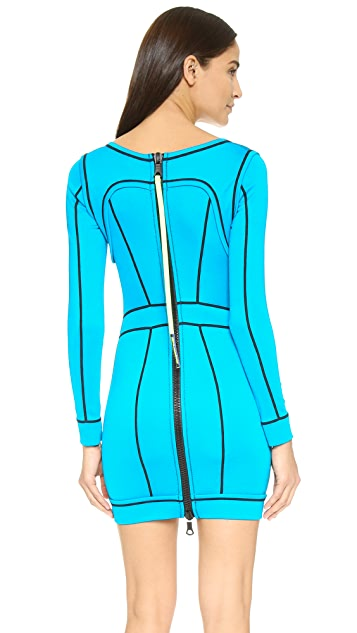 DSQUARED2 Piped Knit Dress