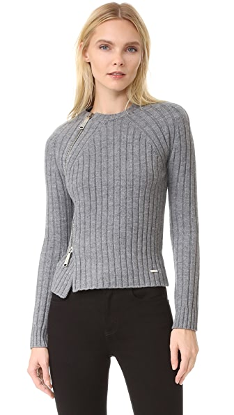 DSQUARED2 Pullover with Zipper Detail