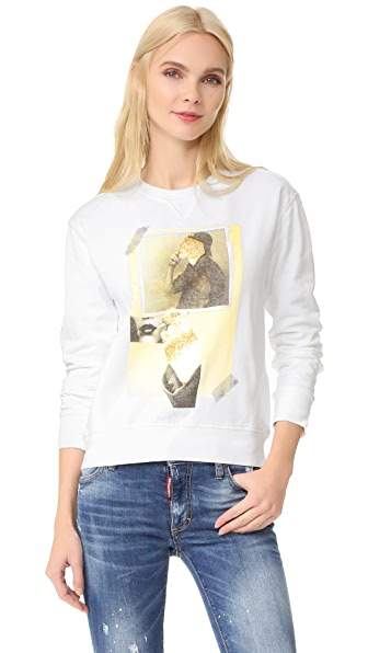 DSQUARED2 Printed Sweatshirt - White
