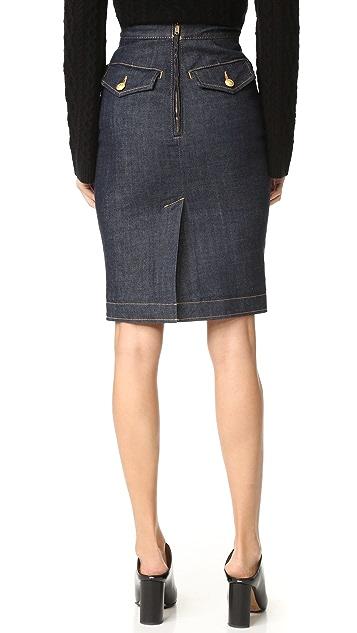 DSQUARED2 Denim Pencil Skirt