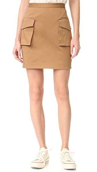 DSQUARED2 Military Miniskirt - Mud