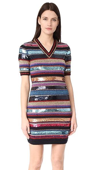 DSQUARED2 Платье в полоску с короткими рукавами