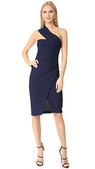 DSQUARED2 One Shoulder Dress In Blue