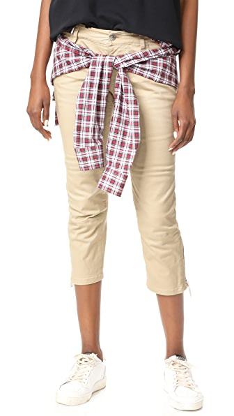 DSQUARED2 Shirt Pants In Red/White/Beige