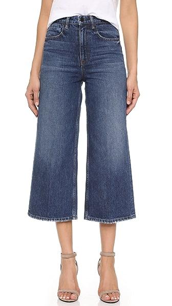Denim x Alexander Wang Широкие джинсы Drill с высокой посадкой