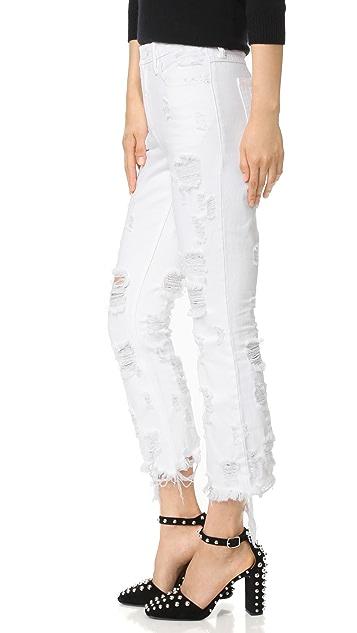 Denim x  Alexander Wang Grind White Scratch Jeans