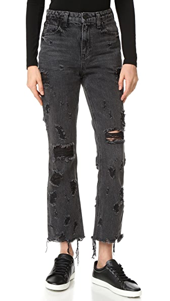 Denim x  Alexander Wang Grind Grey Scratch Jeans
