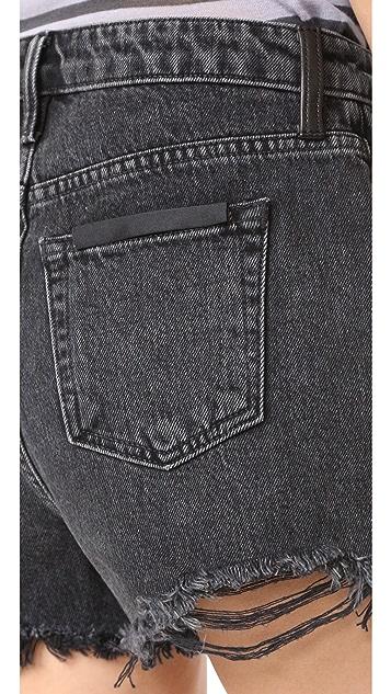 Denim x  Alexander Wang Bite Grey Aged Shorts