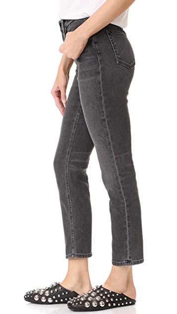 Denim x  Alexander Wang High Rise Straight Jeans