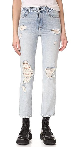 Denim x Alexander Wang Укороченные прямые джинсы Cult