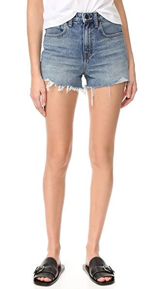 Denim x Alexander Wang Bite Shorts - Light Indigo Aged