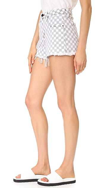 Denim x  Alexander Wang Bite Cutoff Shorts