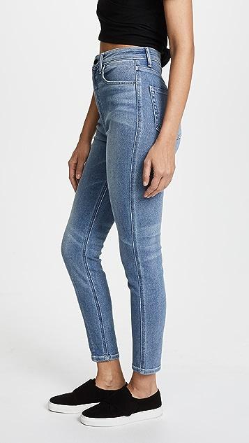 Denim x  Alexander Wang High Rise Dart Skinny Jeans