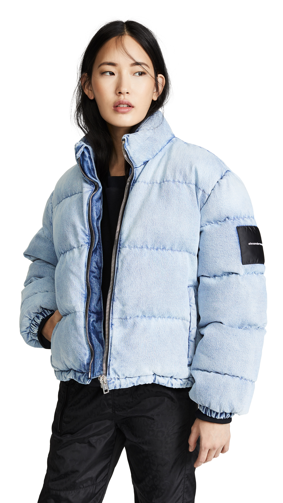 Denim x Alexander Wang Puffer Jacket - Bleach