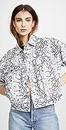 Denim x  Alexander Wang Printed Game Jacket