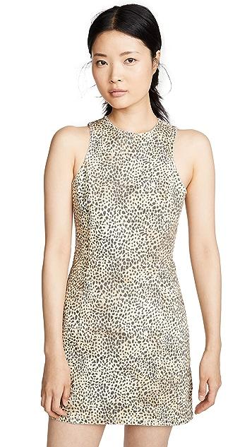 Denim x Alexander Wang Micro Cheetah Sheath Dress