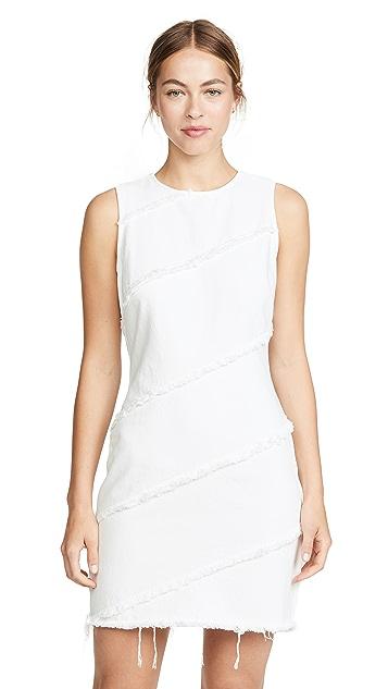 Denim x Alexander Wang Diagonal Seamed Dress