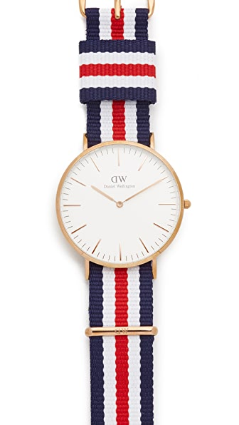 Daniel Wellington Canterbury 40mm Watch with Nato Strap