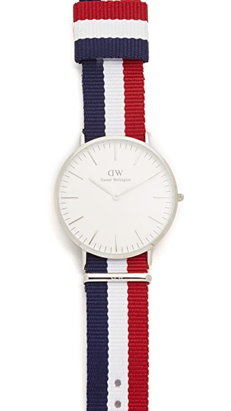 Daniel Wellington Cambridge 40mm Watch with Nato Strap
