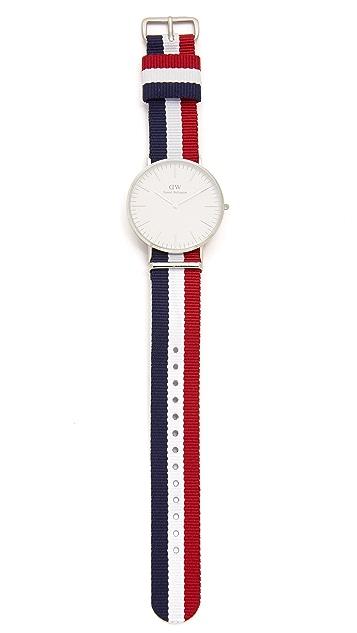 Daniel Wellington Cambridge 40mm Watch with Nato Strap