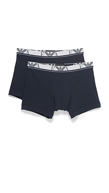 Emporio Armani 2 Pack Stretch Cotton Boxer Briefs