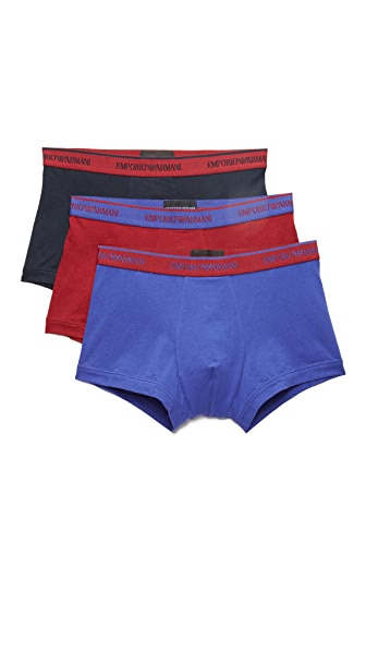 Emporio Armani 3 Pack Stretch Cotton Trunks
