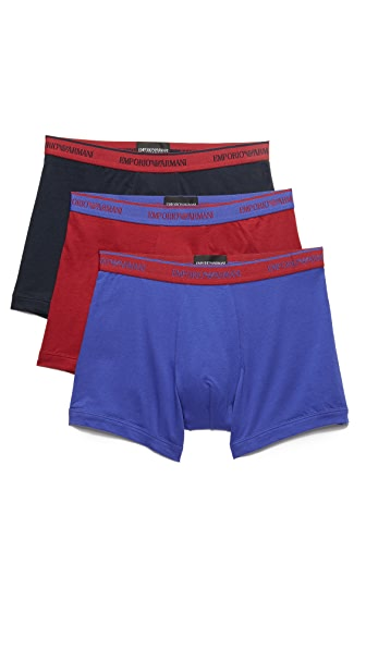Emporio Armani 3 Pack Stretch Cotton Boxer Briefs