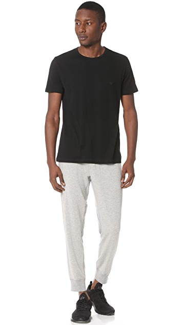 Emporio Armani 3 Pack Genuine Cotton Crew Neck Tees