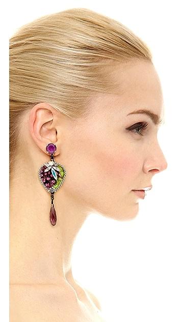 Erickson Beamon Birds of Pray Earrings