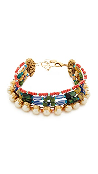 Erickson Beamon Imitation Pearl Safari Choker