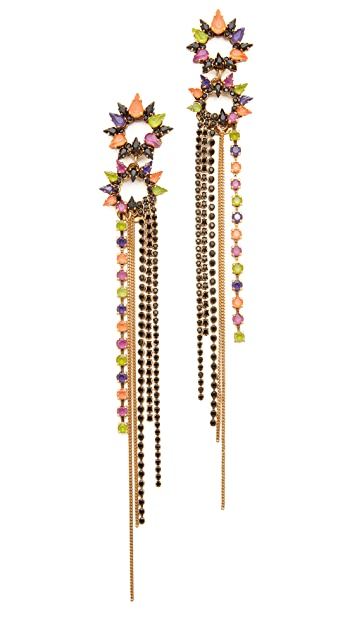 Erickson Beamon Technicolor Earrings