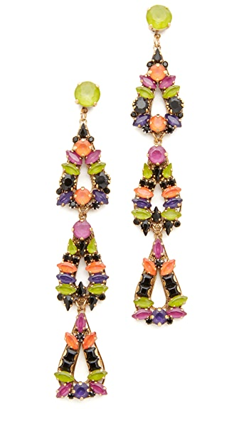 Erickson Beamon Technicolor Earrings