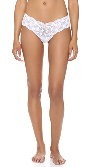 Eberjey India Lace Low Rise Boy Thong