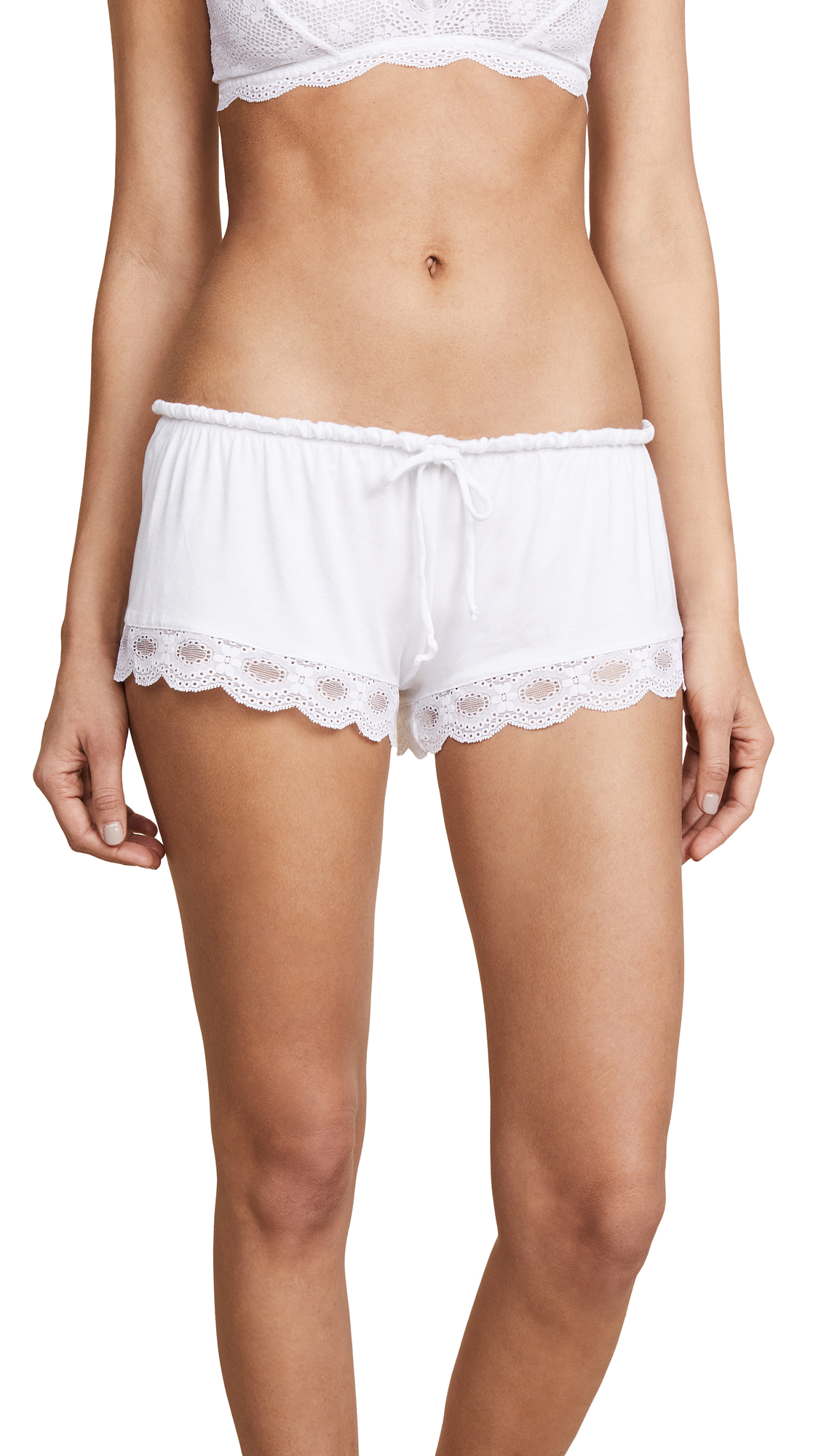 Eberjey India Lace Shortie - White