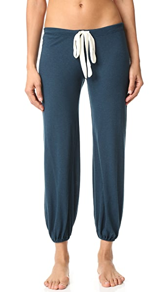 Eberjey Heather Cropped Pants - Petrol