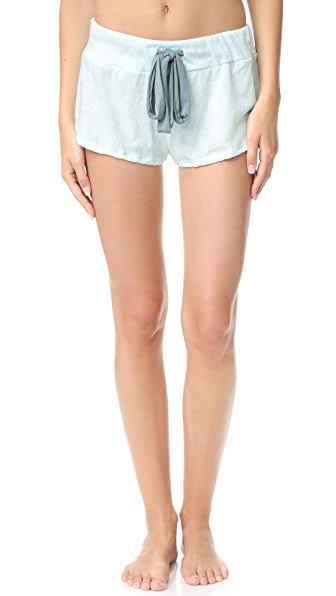 Eberjey Heather Short In Sky Blue/Vintage Blue